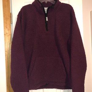 NIP VS/PINK Sherpa SweatShirt Size Large